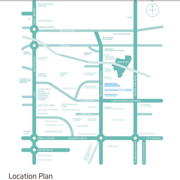 bhartiya_city_nikoo_homes_phase_2_location_map