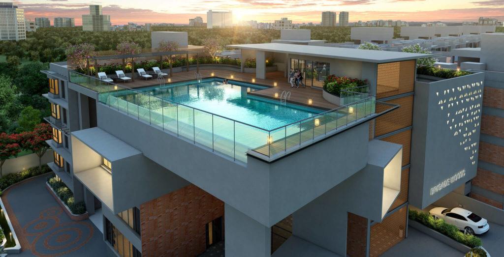 Brigade Cornerstone utopia Amenities and pool